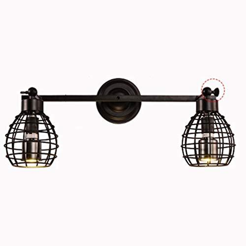 E27 Loft Vintage Noir Angle Réglable Lampe Applique Lampe De Chevet Rétro Industriel Luminaire Applique Murale Intérieur En Métal Fer Ajouré Design Lumière Mur Projecteurs Escalier Chambre