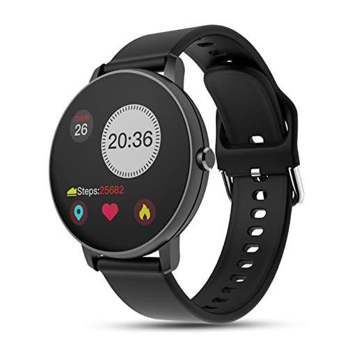 XXY Bluetooth Impermeable Smart Watch Presión Arterial Monitor De Aptitud Pulsera (Color : Black)