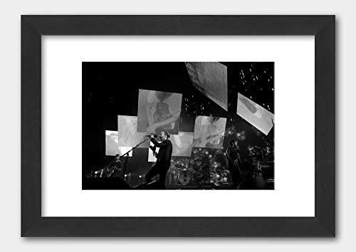 Radiohead - Thom Yorke Rod Laver Arena 2012 Poster Black Frame 29.7x42cm (A3) White