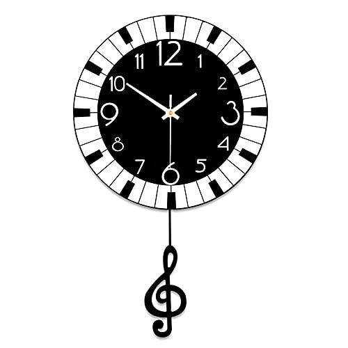 DIEFMJ Relojes y Relojes, Reloj de Pared Sala de Estar Creativa Dormitorio Ambiente Minimalista Moderno Reloj de Moda para el hogar Personalizado Mesa Colgante muda 29CM * 50CM