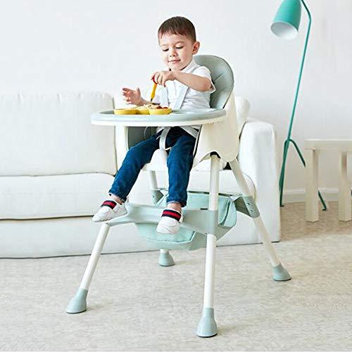 Swttppy Trona Desde el nacimiento del bebé alimentación de los niños de Silla convertible for niños Silla de comedor Bebés Niños pequeños cenar asiento elevador desmontable bandeja de succión Placa Co