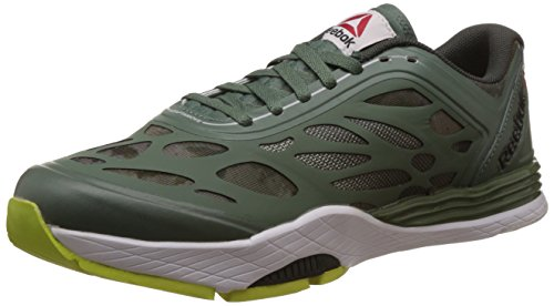 Reebok Women's Cardio Ultra Silver,Green,Dark Green,Yellow and White Sneakers - 6 UK
