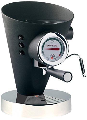 Casa Bugatti 15-DIVAN Kaffeevollautomat Diva, schwarz