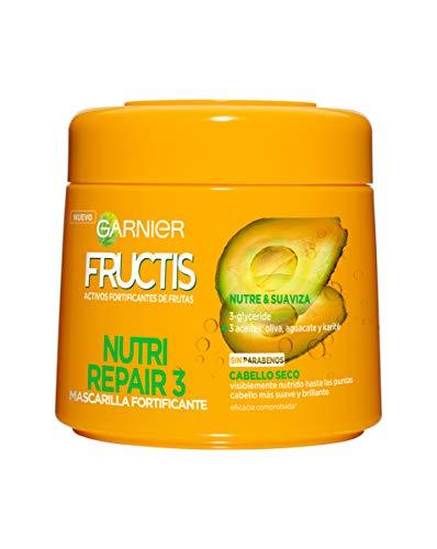Garnier Fructis Nutri Repair 3 Mascarilla Fortificante que Nutre y Suaviza, con...