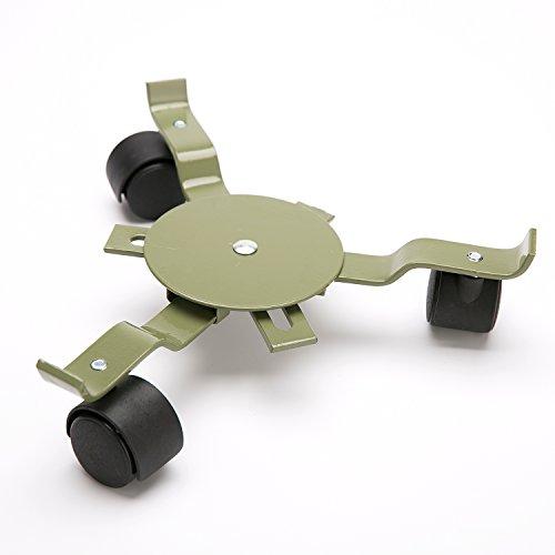 Worth Chariot télescopique robuste en acier au carbone pour pot de fleurs, porte-plante, support de pot de fleurs avec roues universelles