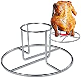 2 Pack Beer Can Chicken Holder for Grill Oven Smoker Sturdy Stainless Steel Beer Butt Chicken Stand for Whole Chicken Roaster Easy to Use and Clean Chicken Rack for Tender and Juicy Chicken Turkey