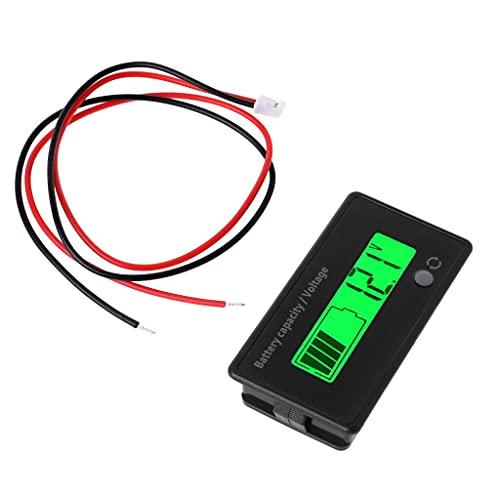 DealMux 12V-84V batería de plomo-ácido pantalla voltímetro monitor LCD
