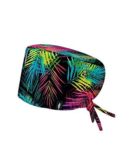 Modelo: JAVA - Estampado - Gorro de Quirófano ROBIN HAT- Pelo Largo - Ajustable - 100% algodón (Autoclave)
