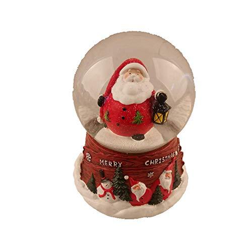 Lightahead Christmas Musical 100MM Polyresin Santa Snow Globe Water Ball