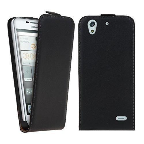kwmobile Huawei Ascend G630 Hülle - Handyhülle für Huawei Ascend G630 - Schwarz - Handy Case Flip Schutzhülle