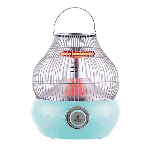 Warmks Calentadores eléctricos 1000W Calentador de Calor de Velocidad doméstica Ahorro de energía 360 ° Cálido (Color: Azul)