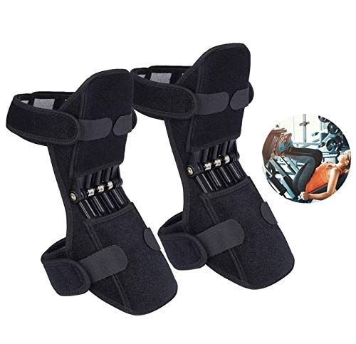 Joint Support Knee Pads (Upgraded), Power Lift Knee Stabilizer Pads, Powerful Rebound Spring Force Knee Protection Booster, Breathable Joint Knee Support Brace for Men Sports, Squat, Training, Black