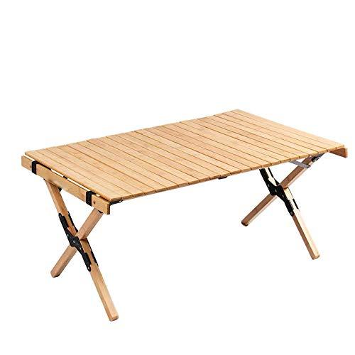 N C Table De Camping Pliante Portable Table Omelette en Hêtre Camping en Plein Air Table Pliante en Bois Massif Table Pliante De Voiture pour L extérieur Pique-Nique Plage Randonnée Pêche