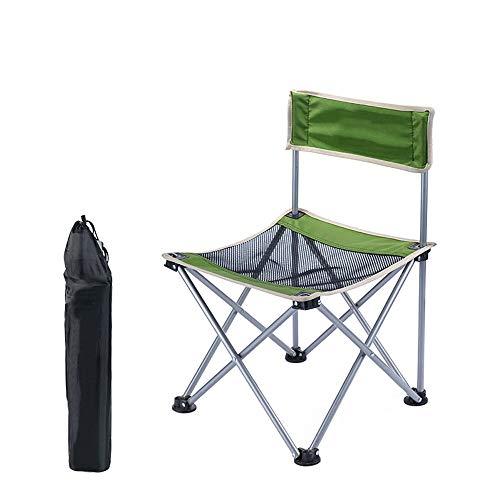 Silla Plegable Camping Silla Portátil Al Aire Libre con Bolsa De Transporte, 22.6 * 13in, Ideal para Jardín, Playa, Pesca, Camping, Viajes, Senderismo (Color : Green)