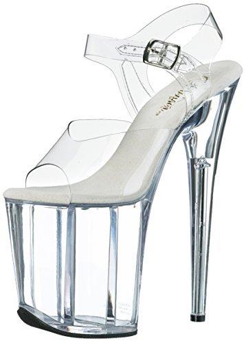 Pleaser Women's Flamingo-808 Platform Sandal,Clear/Clear,6 M US