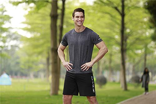 Compressieshirt voor heren, korte mouwen, stretch, sportshirt, joggingpak, sneldrogend