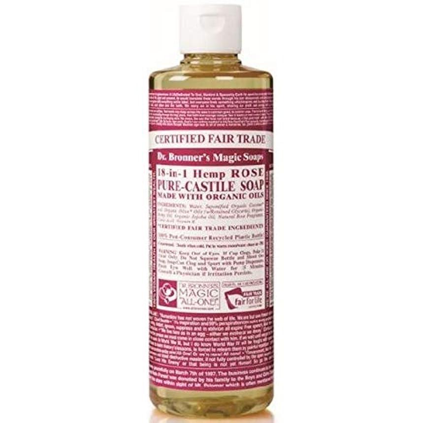 トンスパイ涙[Dr Bronner] Dr。ブロナーズ有機バラカスティーリャ液体石鹸237ミリリットル - Dr. Bronner's Organic Rose Castile Liquid Soap 237ml [並行輸入品]