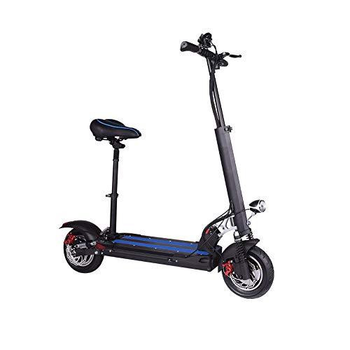 zhangfengjiao Mini Scooter Eléctrico Plegable Portátil Dos ruedas Batería de litio Roller 10 pulgadas Neumáticos 80-100 km Duración de la Batería