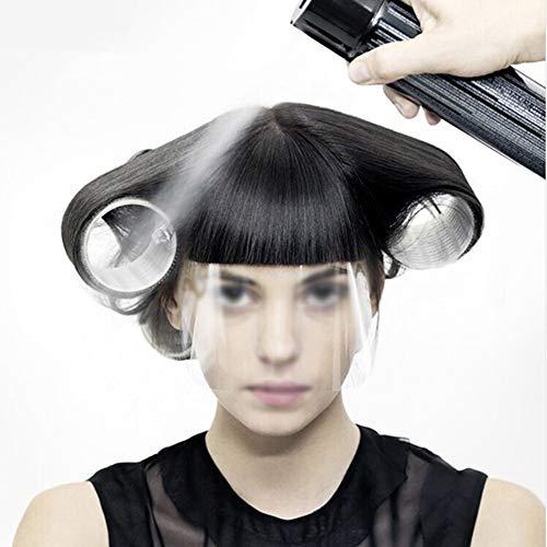 LSGD Masque de coiffeur, outil de tondeuse de masque en plastique transparent jetable pour salon de coiffure professionnel Accessoires de coupe de cheveux