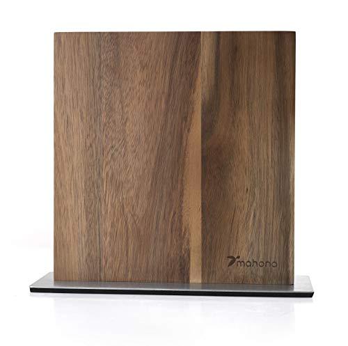 mahona Magnetischer Messerblock ohne Messer aus Akazien Holz | Mit Dieser Magnetleiste Messer in Szene zu setzen veredelt Jede Küche! Der perfekte Messerblock magnetisch, doppelseitig und aus Holz!