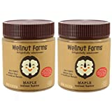 Wellnut Farms Creamy Walnut Butter, Maple, 11 Ounce (2 Count), Gluten Free, Keto Friendly, Omega 3, Vegan