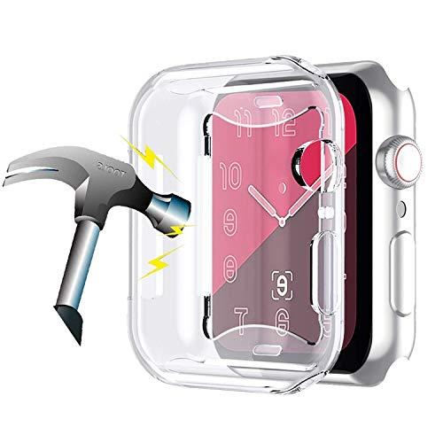 Amial Europe -- Cover Compatibile con Apple Watch iWatch Serie 1/2/3 e 4/5 Proteggi Schermo in TPU Custodia Morbida Trasparente [Extra Protezione] [Anti-Graffio] [Ultra Sottile] (38mm)