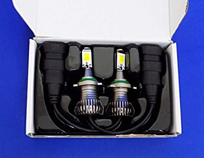 keyecu Pack of 2 DC 12V 6000K/3000K Dual Colors In 1 Super Bright White-Yellow LED Fog Lights Lamps Replacement