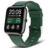Smart Watch, Popglory Smartwatch with Blood Pressure, Blood Oxygen Monitor, Fitness Tracker with Heart Rate Monitor, Full Touch Fitness Watch for Android & iOS for Men Women (Green)