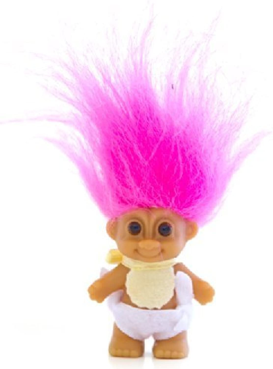 My Lucky Mini 2.5 Baby Troll Doll  Hot Pink Hair by Russ Berrie