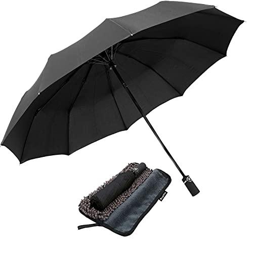 KEPLIN Folding Travel Umbrella, Automatic Open & Close Ergonomic Handle,...