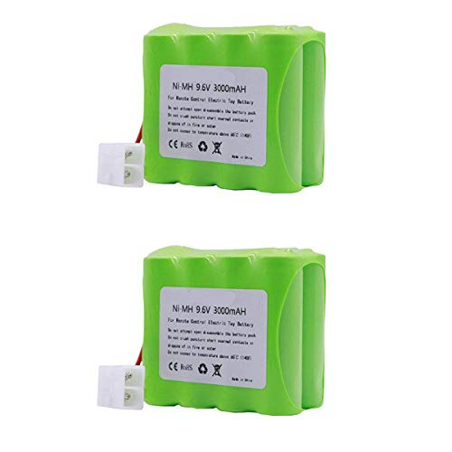 ndegdgswg 2pcs 9.6 v 3000 Mah NI Mh Batterie, Stecker für Rc Spielzeug Elektrische Sicherheitsbeleuchtung für Spielzeug Aa Batterie 9.6 v NI Mh Batterie 2PCS
