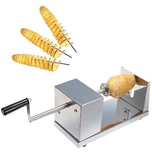Kartoffelschneide, Spiralschneider Kartoffel Twister Gemüse Schneider aus Edelstahl für Obst, Kartoffeln,Tornado Chips, Gurken oder Karotten