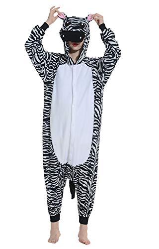 Pigiama Animati Adulti Kigurumi Zebra Cartoni Animale Cosplay da Unisex