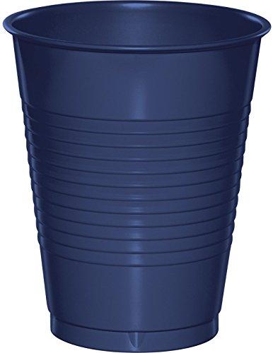 Creative Converting 28113781 Plastic Cups, 16 oz, Navy