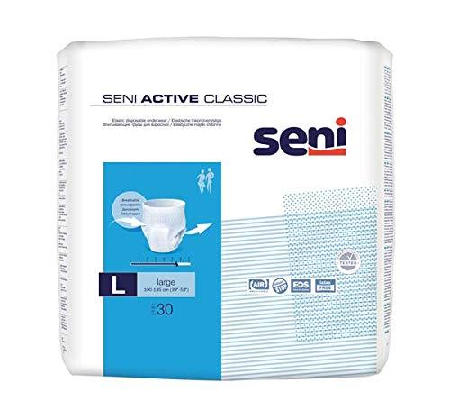 Seni Active Classic Large - Pants - Windelhose - Windel Hose für Erwachene - Kleinpackung - Test - Probe - 4 Stück - Teilmenge aus PZN 13830766