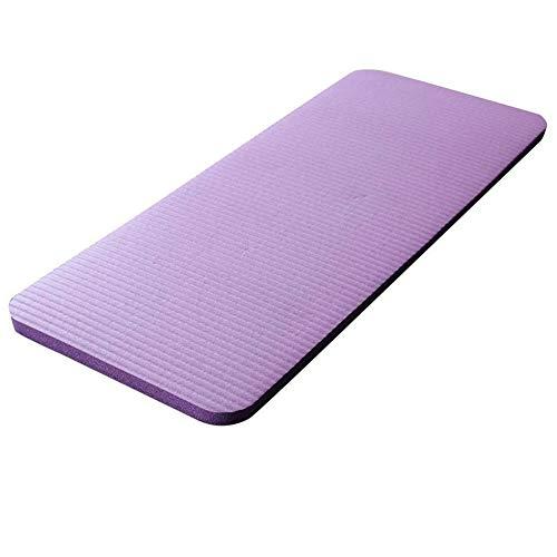 Exanko Esterilla de Yoga Gruesa de 15 Mm Almohadilla de Codo de Rodilla Espuma Comfort Colchonetas para Ejercicio Yoga Pilates Almohadillas para Interior Entrenamiento Físico, Púrpura