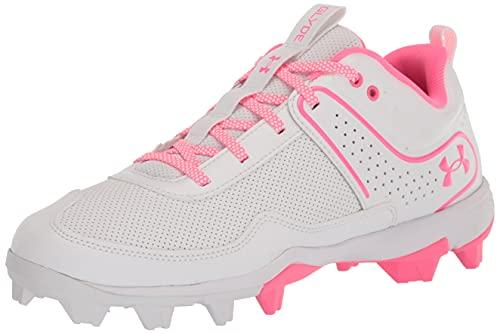 Under Armour Women's Glyde RM Softball Shoe, White (101)/White, 9