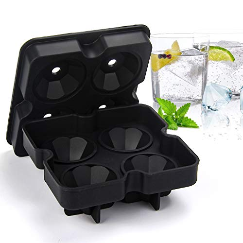 2x Flexible Silicone Ice Cube Diamant Maker Ice Moule Plateau Whisky Cocktail