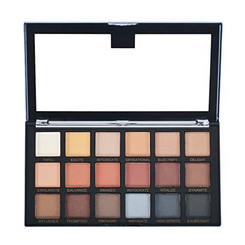 OBLHER B Lidschatten-Palette Make-up Palette Lidschatten-Paletten Perlmatt Samt Textur Lidschatten-Palette Augen Make-up 18 Farbe Geeignet für Rock Style Smoky Makeup 5.3oz E9497-1
