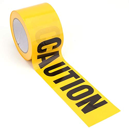 Warnband,Warnband Gelb Schwarz 4,5 cm x 25 m Absperrband Gelb Markierungsband für Den Gefahrenbereich im Freien