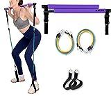 Portable Pilates Stick Yoga Exercise Pilates Bar, Yoga Pilates Bar Reformer Kit, Pilates Bar Kit...