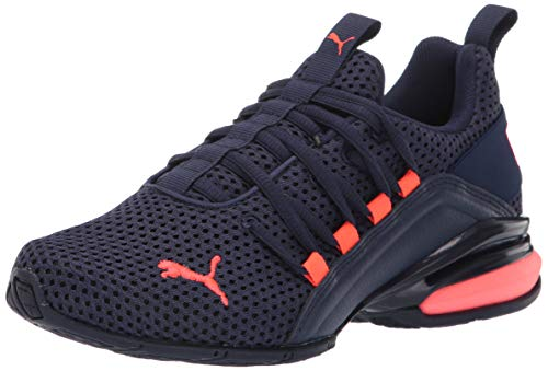 PUMA Men's AXELION Shoe, Peacoat-Nrgy Red, 10 M US
