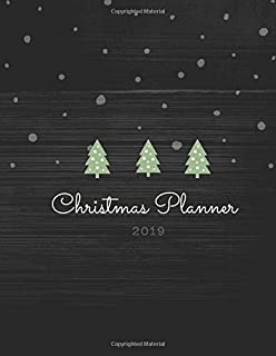 Christmas Planner 2019: Christmas Holiday Daily Planner Notebook Organiser Organizer with Christmas Quotes Gift Planner Address Book Tracker, Shopping ... 3 Months Chaos Coordinator Student Planner
