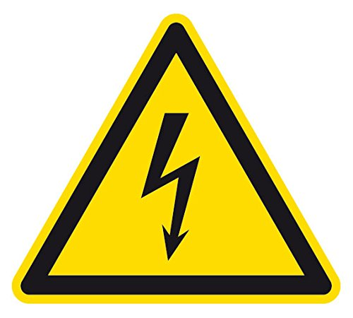Warnzeichen - Warnung vor elektrischer Spannung - Selbstklebende Folie - SL 10 cm