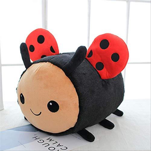 Nuevo anime Kawaii peluche abeja mariquita juguetes de peluche juguetes de bebé almohada habitación de bebé almohada decorativa hogar almohadas 20 cm negro