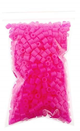 KIRALOVE Cuentas para planchar juego creativo – cumpleaños de niña – Perlas de fusión – Idea regalo original – 1000 unidades – Navidad – 3D – 5 mm – Crear joyas color fucsia