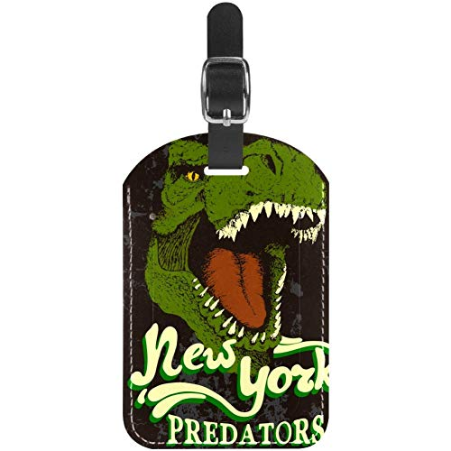 Luggage Tags Angey Danger Dinosaur Leather Travel Suitcase Labels 1 Packs