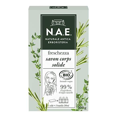 N.A.E. - Savon Solide Rafraichissant Certifié Bio - Formule Vegan - 100 g