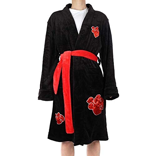 Shcro Herren Winter Flanell Schal Bademantel Home Service Dragon Ball Naruto Cosplay Xiao Long Sleeve Robe Bademantel Damen Kinder