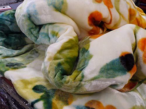 Mora Manta Terciopelo Espectacular Hecha EN ESPAÑA Calida Y Suave 260 X 240 EN Color Verde H58
